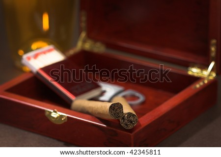 cigars, close up shallow dof