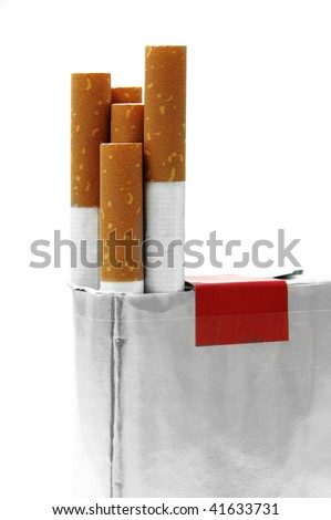 cigars snuff package on a white background