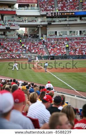 Cincinnati Reds baseball game - stock photo