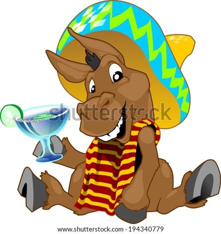 Cinco De Mayo Donkey - stock photo