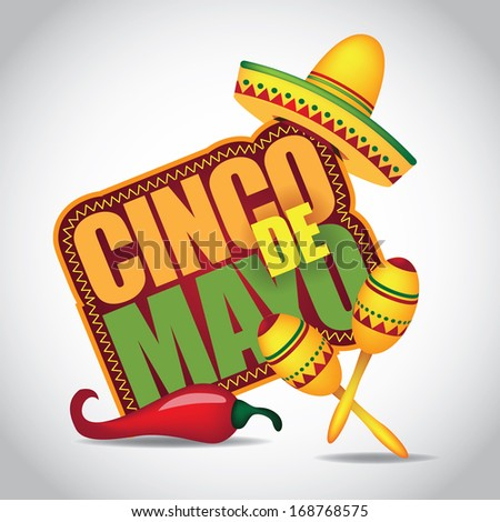 Cinco De Mayo icon/design element. EPS 10 vector, grouped for easy editing. No open shapes or paths.