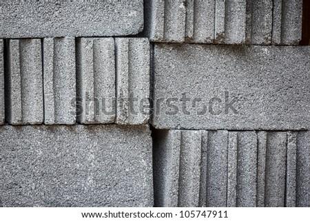 Cinder Block Brick - stock photo