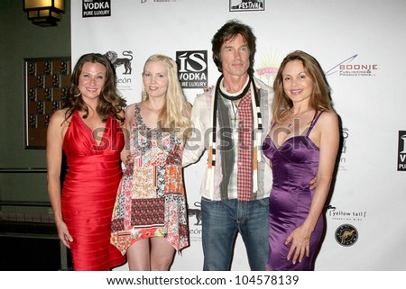 Cindy Marinangel and Allie Moss with Ronn Moss and Brittan Taylor at the Los Angeles Screening of 'Social Lights'. Regency Fairfax Cinemas, Los Angeles, CA. 08-05-09