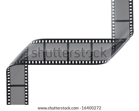 cinefilm with frames on white