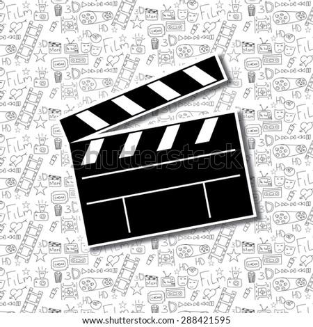 Cinema background - stock photo