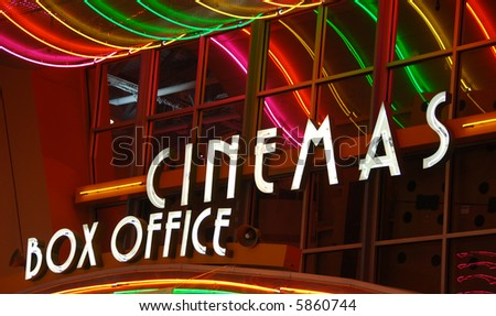 Cinema box office - stock photo