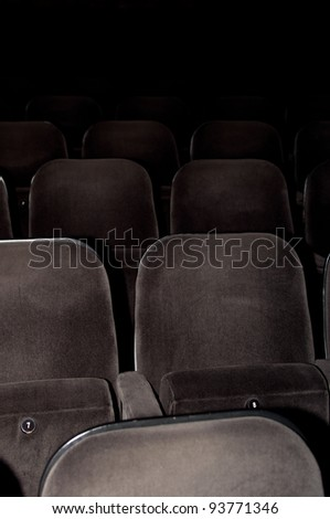 Cinema chairs - stock photo