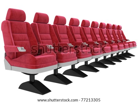Cinema Chairs In Rows