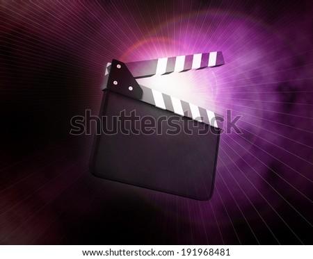 Cinema clapper - stock photo