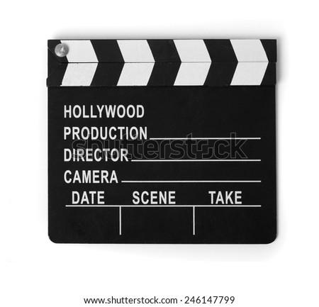 cinema clapperboard - stock photo