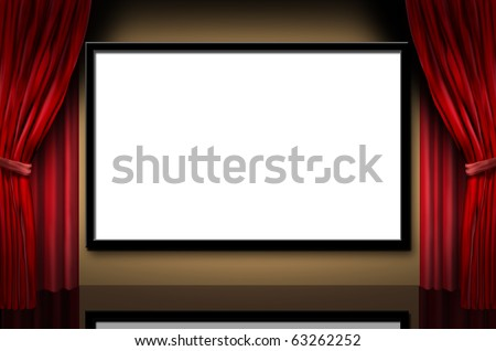 Cinema Display Stage Movies Opening Night Stock Illustration ...