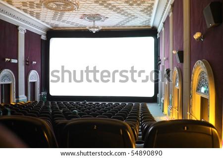 Cinema hall - stock photo