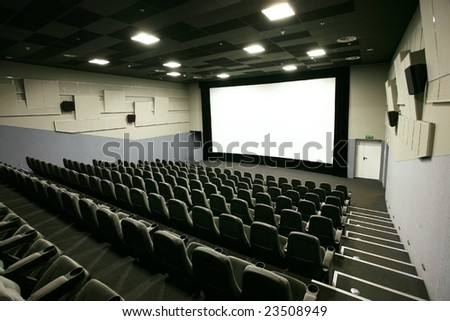 Cinema hall in a modern multiplex - stock photo