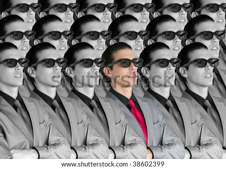 Cinema in new 3D glasses with boy spectator watching movie on cinema [Photo Illustration] - stock photo