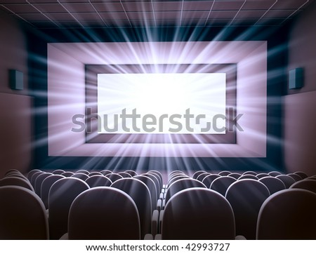 cinema interior - stock photo