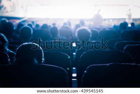 Cinema or theater in the auditorium,business background. - stock photo