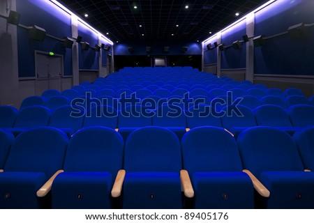 cinema or theatre empty seats - stock photo