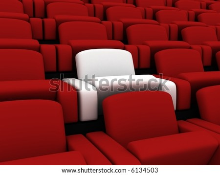 cinema seats - stock photo