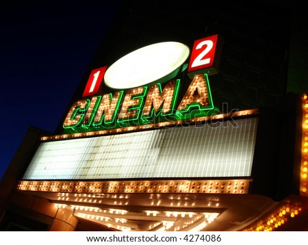 Cinema Sign Blank - stock photo