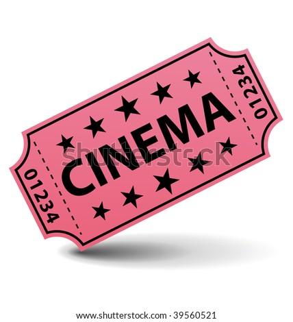Cinema ticket illustration. - stock photo