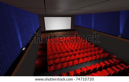 cinema top view - stock photo
