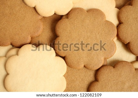 Cinnamon and milky cookies, for backgrounds or textures - stock photo