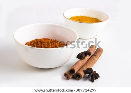 cinnamon and spices - stock photo
