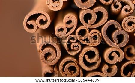 Cinnamon background - stock photo