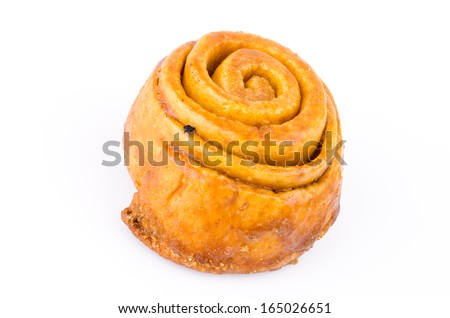 Cinnamon bread on white background - stock photo