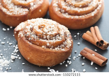 Cinnamon Bun - stock photo