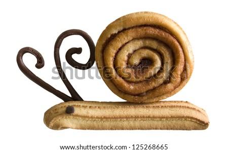 Cinnamon Bun Art - stock photo