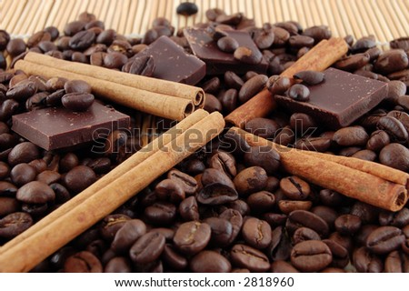 Cinnamon, coffee and chocolate