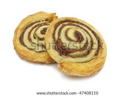 Cinnamon Danish isolated on white with clipping path