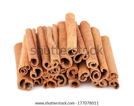 Cinnamon. Isolated on white background