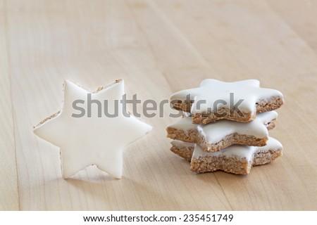 Cinnamon stars christmas cookies - stock photo