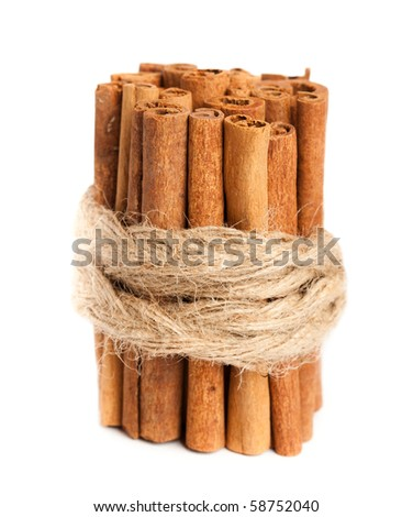 cinnamon stick tied with string