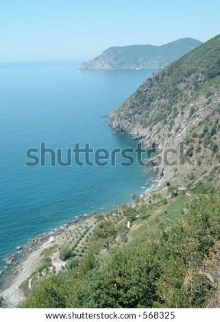 Cinque Terre Landscape - stock photo