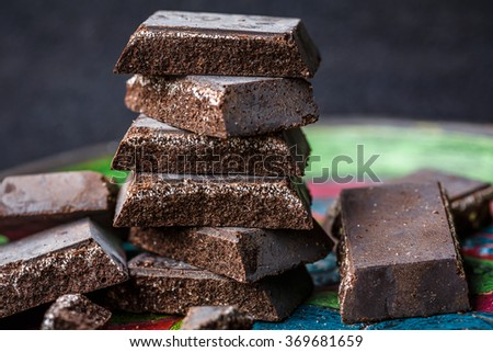 Cioccolato di Modica (Chocolate of Modica) sicilian specialty - stock photo