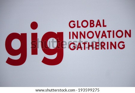 "CIRCA APRIL 2014 - BERLIN: the logo of the brand ""GIG Global Innovation Gathering"", Berlin. - stock photo"