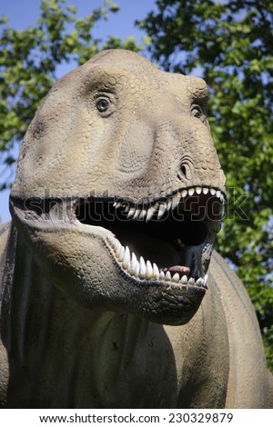 Tyrannus saurus rex stock images royalty free images vectors circa august 2014 frankfurt a real size model of a tyrannus saurus rex dinosaur thecheapjerseys Image collections