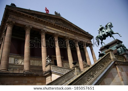 CIRCA JUNE 2013 - BERLIN: the Alte Nationalgalerie (Old National Gallery), Museumsinsel, Berlin-Mitte.
