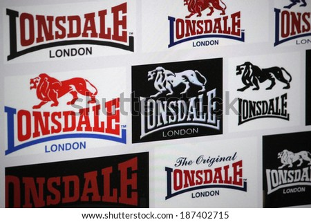 "CIRCA MARCH 2014 - BERLIN: the logo of the brand ""Lonsdale"", Berlin."