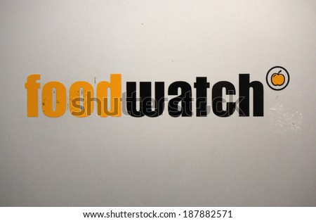 "CIRCA MARCH 2014 - BERLIN: the logo of the non governmental organization ""Food Watch"", Berlin. - stock photo"