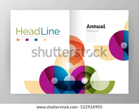 Circle annual report templates, business flyers. abstract backgrounds