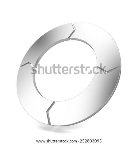 Circle arrow. 3d illustration isolated on white background  - stock photo