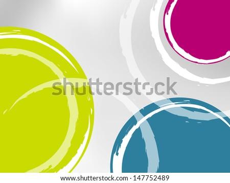 Circle background - stock photo