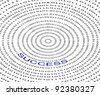 Circle binary code with success concept - stock photo