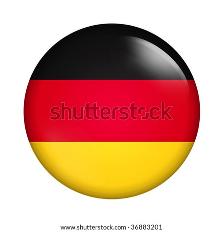 Circle button flag of Germany