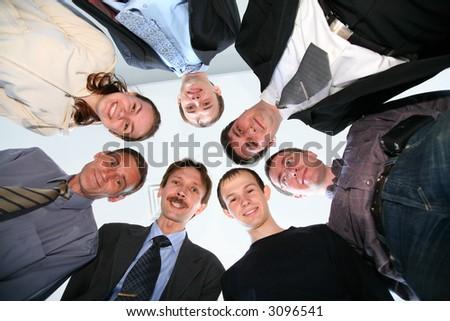 circle friends - stock photo