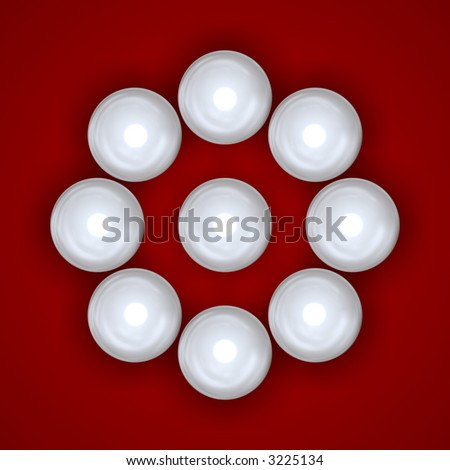 circle from pearls - stock photo